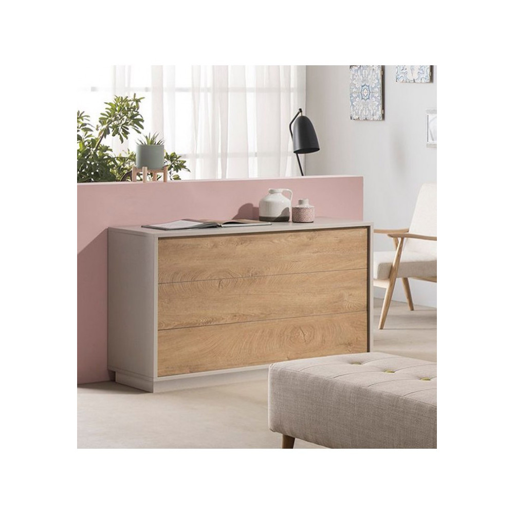 C138 3 Drawer Chest in Piedra