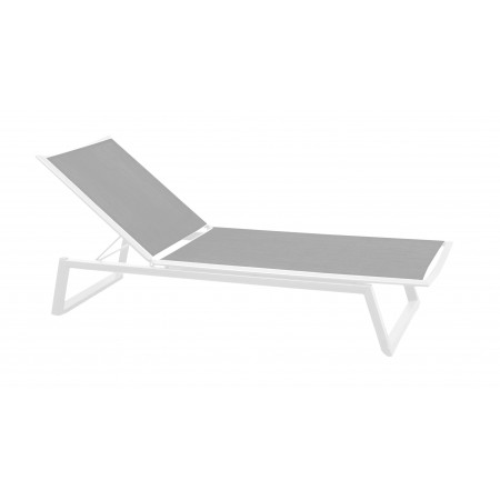 Themis Sunbed in White/Silver