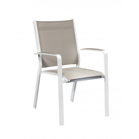 Cosmo Chair White/Khaki