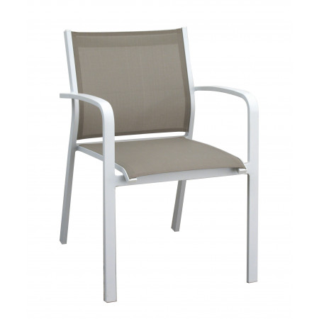 Gallis Chair White/Khaki