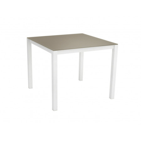 Una Table 90x90cm White/Cappuccino