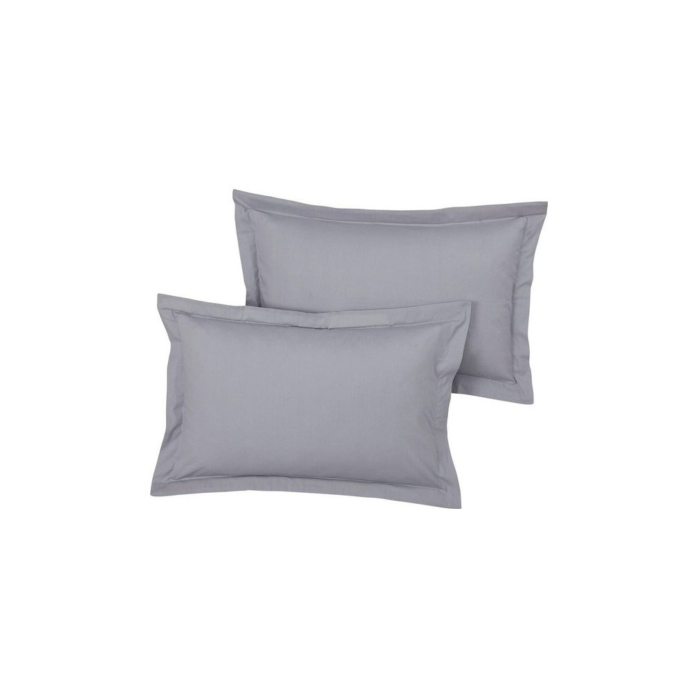 Single Oxford Pillow Case in Grey