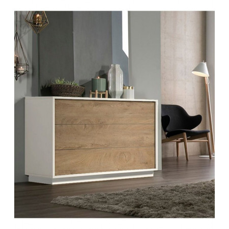 C138 3 Drawer Chest in White