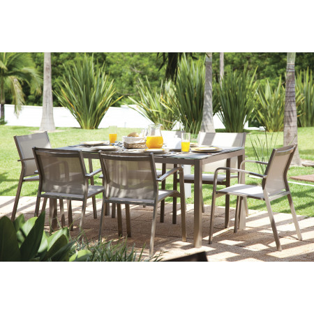 Una/Gallis Dining Set with 6 Chairs