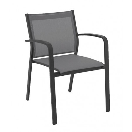 Gallis Chair Charcoal/Silverblack