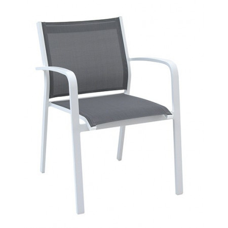 Gallis Chair White/Silverblack