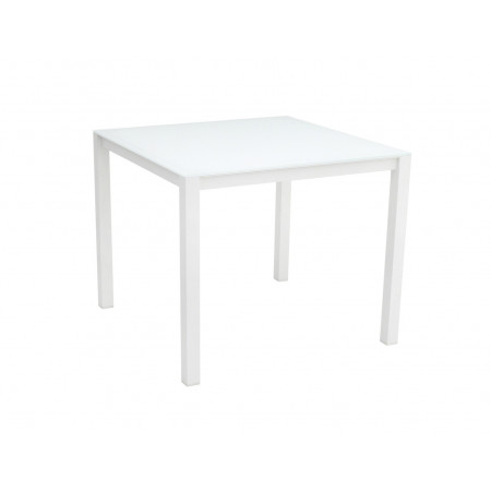 Una Table 90x90cm White/White