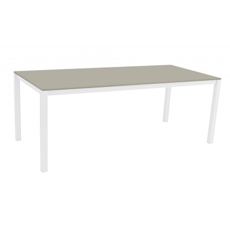 Una Table 200x90cm White/Cappuccino