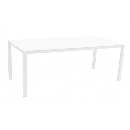Una Table 200x90cm White/White