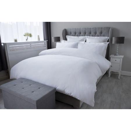 Staten Island Duvet Cover Set in White