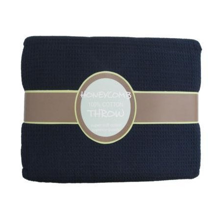Navy Honeycomb Throw