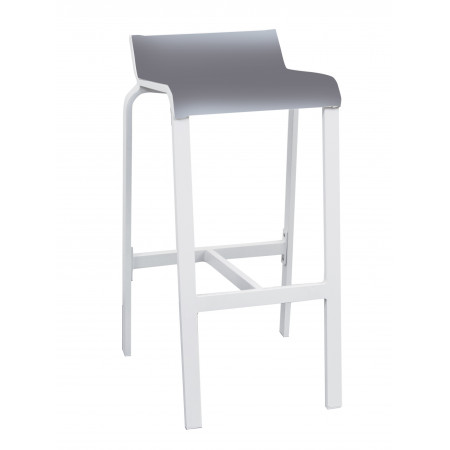 Luis Bar Stool White/Silver