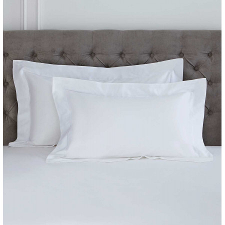 Single 100% Cotton Oxford Pillow Case in White