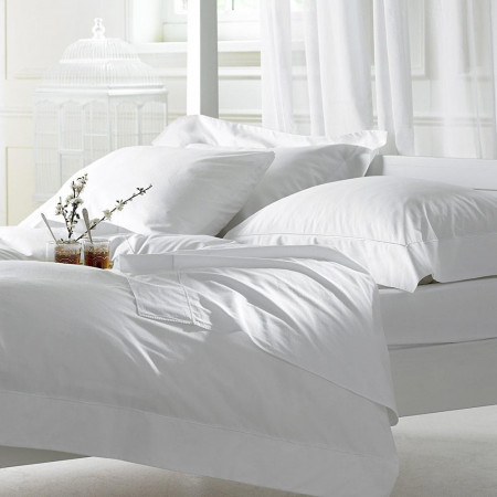 Bellissimo 400TC Cotton Duvet Cover White